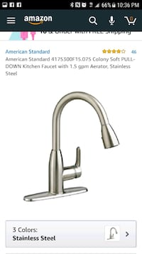 stainless steel and black faucet Lancaster, 93535