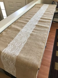 (3)Burlap & lace table runners