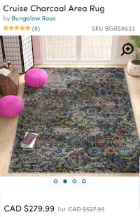 Brand new area rug 5'3x7'7ft Mississauga, L5J 4E6