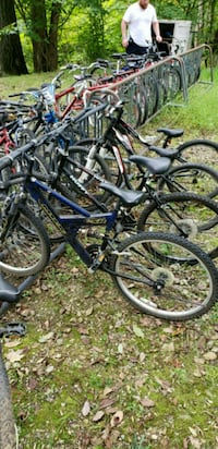 two black and blue bicycles Montville, 07045