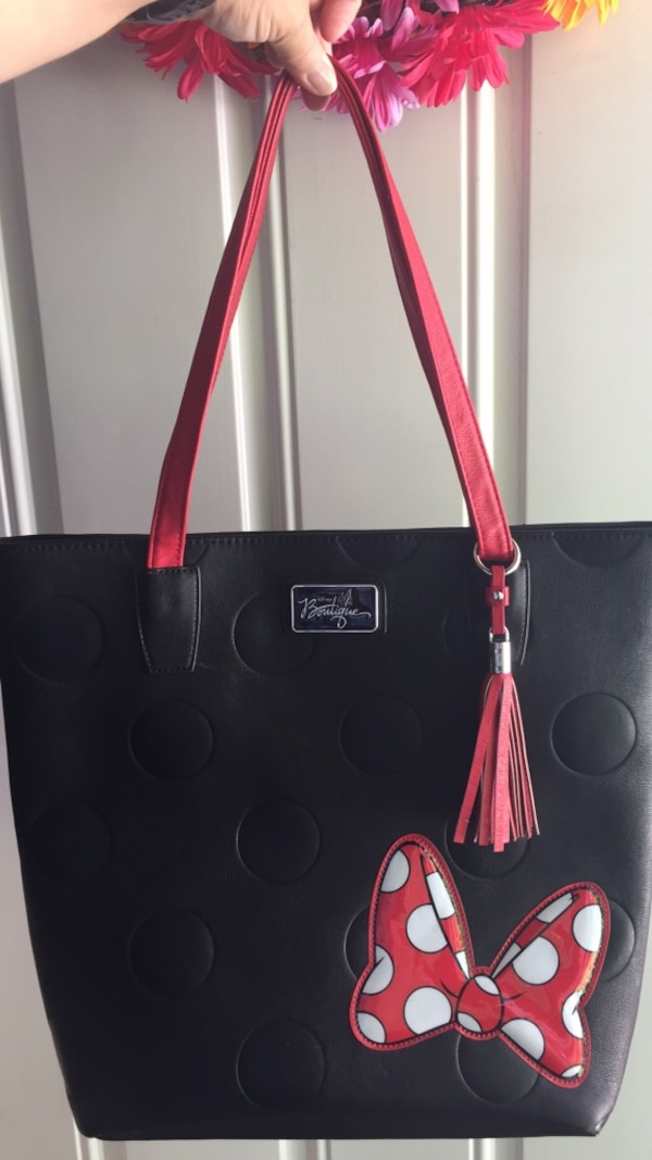 """484d94cd450 Used Minnie Mouse """"Minnie Mania"""" Tote by Disney Boutique. Never carried for  sale in Kannapolis"""
