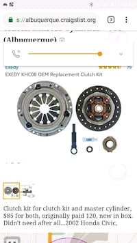 Clutch kit and master cylinder Albuquerque, 87102