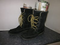 Timberland's Ladies Black Leather Suede Winter Boots - Size 9 Winnipeg