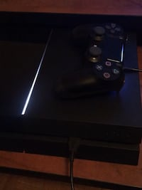 Black sony ps4 console with controller Brampton, L6T 5L6