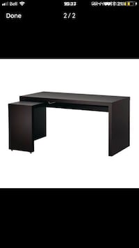 black wooden single pedestal desk 1962 km