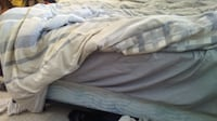 Full Size Bed: Mattress, Box Spring, Frame. By Donation. Nanaimo
