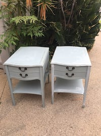 2 nightstands end tables blue gray Lake Forest, 92630