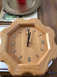 Solid wood clock in good working condition  Woodstock, N4S