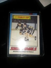 Stanley Cup ice hockey trading card Hamilton, L8V