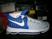 unpaired blue and white Nike basketball shoe Hollywood, 33020