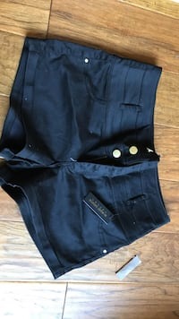 Black high waist short shorts size 8 brand new with tags