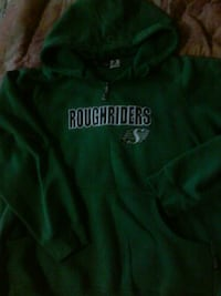 green and white The North Face pullover hoodie Saskatoon, S7K 6M8