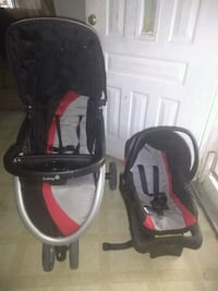 baby's black and red jogging stroller Alamo, 78516
