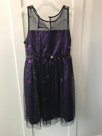 Youth Purple and black dress
