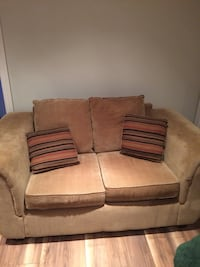 brown fabric 2-seat sofa Mississauga, L5L 5Y3