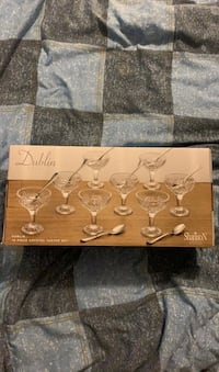 Dublin Crystal Taster Set (glasses and spoons) Toronto, M6A 1X5