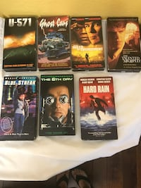 5 VHS movies  Fort Worth, 76137