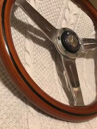 Original Ed Nardi vintage mahogany and stainless steel steering wheel Springfield, 22153