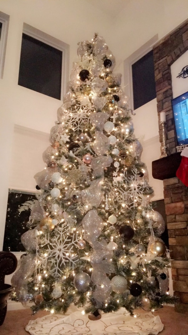 Used 12 foot prelit Christmas tree for sale in Clinton ...