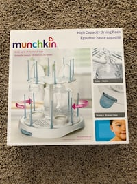 Baby kids changing pillow and drying rack for bottles