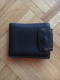Men's black leather wallet (perfect condition)  Toronto, M4S 1C7