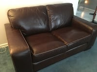 brown leather 2-seat sofa Lincoln, 68506