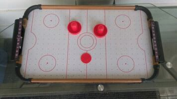 Air hockey table top battery's need still. Works