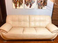 THREE-piece leather sofa set (full set)- Or Best Offer Aspen Hill, 20906