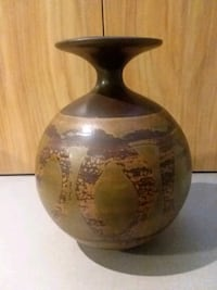 Brown & Green Pottery Vase  Center Point, 35215