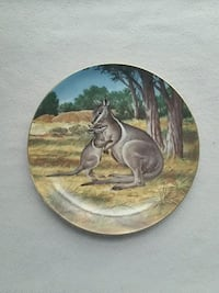 Bradford Exchange The Bridled Wallaby plate. Sterling, 20165