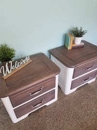 Beautiful Refinished Farmhouse Nightstands  Salt Lake City, 84106