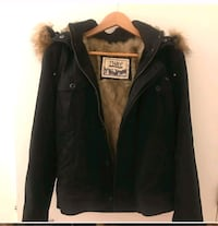 XL Black TNA jacket with faux fur