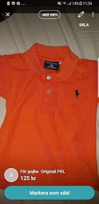 orange Ralph Lauren polo shirt skärmdump Mölndal, 428 31