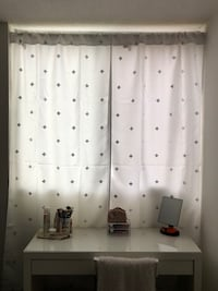 White curtains with silver pattern Toronto, M9P 1B4