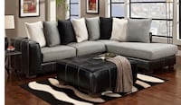 gray fabric sectional sofa with throw pillows Bowie, 20715