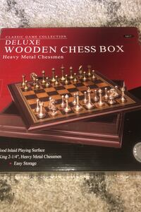Deluxe wooden chess box