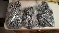 Silver Glitter Pinecones (Hand Painted)