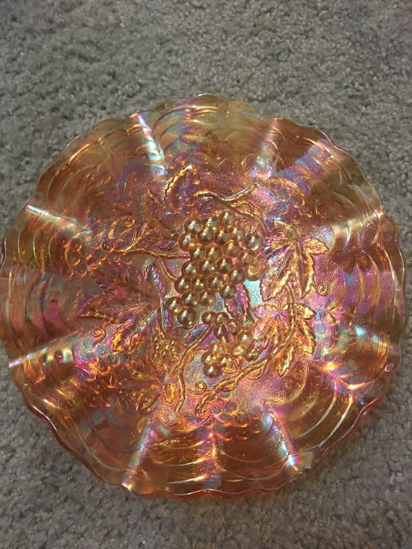 Northwood Imperial Carnival Glass Serving Dish 9cd20e8d-0afa-4fb3-9f48-e1efb1c01f99