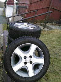 "4x100m.m. 15"" wheels on 185/65/15 snow tires Meriden, 06451"
