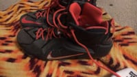 Pair of black-and-red nike basketball shoes Pevely, 63070