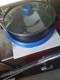 black and blue kitchen appliance