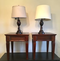 two brown wooden base table lamps Smyrna, 37167