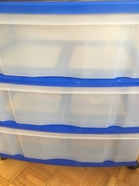 Plastic Storage Drawers Containers Bins