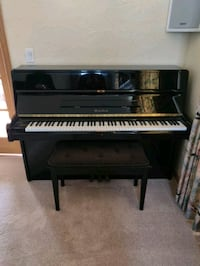Wurlitzer model U-342 upright piano with bench Hawthorn Woods