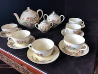Antique hand painted tea set setting for 6 people Toronto, M2R 3N1