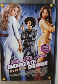 Undercover Brother 2002 ORIGINAL movie theater pos Hamilton