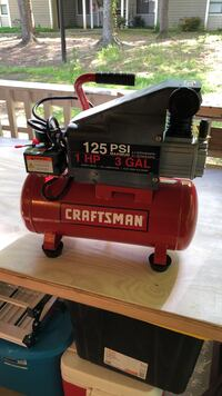 Used once 125psi 1hp 3gal electric air compressor still with original accessories, original box, everything included, way too cheap but I need it to go!  Sandy Springs, 30350