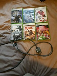 Six xbox 360 games and a cord Cambridge, N3C 1Z6