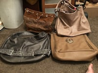 two brown and black leather shoulder bags Fort Worth, 76107