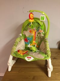 Baby's green and white fisher-price bouncer Hamilton, L8V 4N7